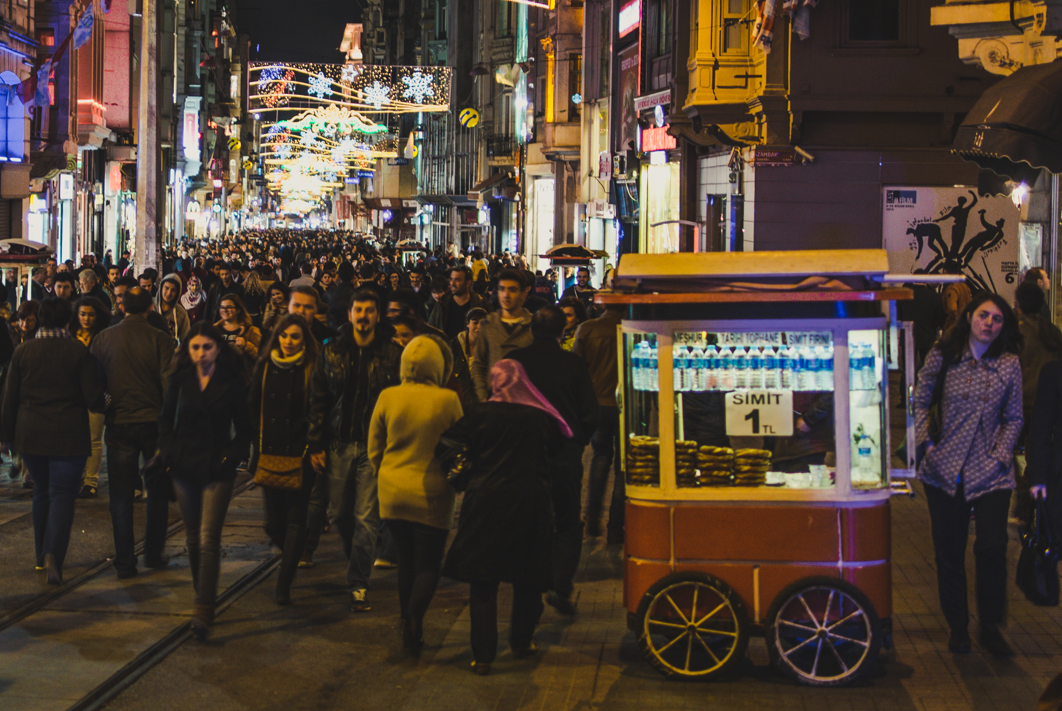 Simitstand in der İstiklal Caddesi