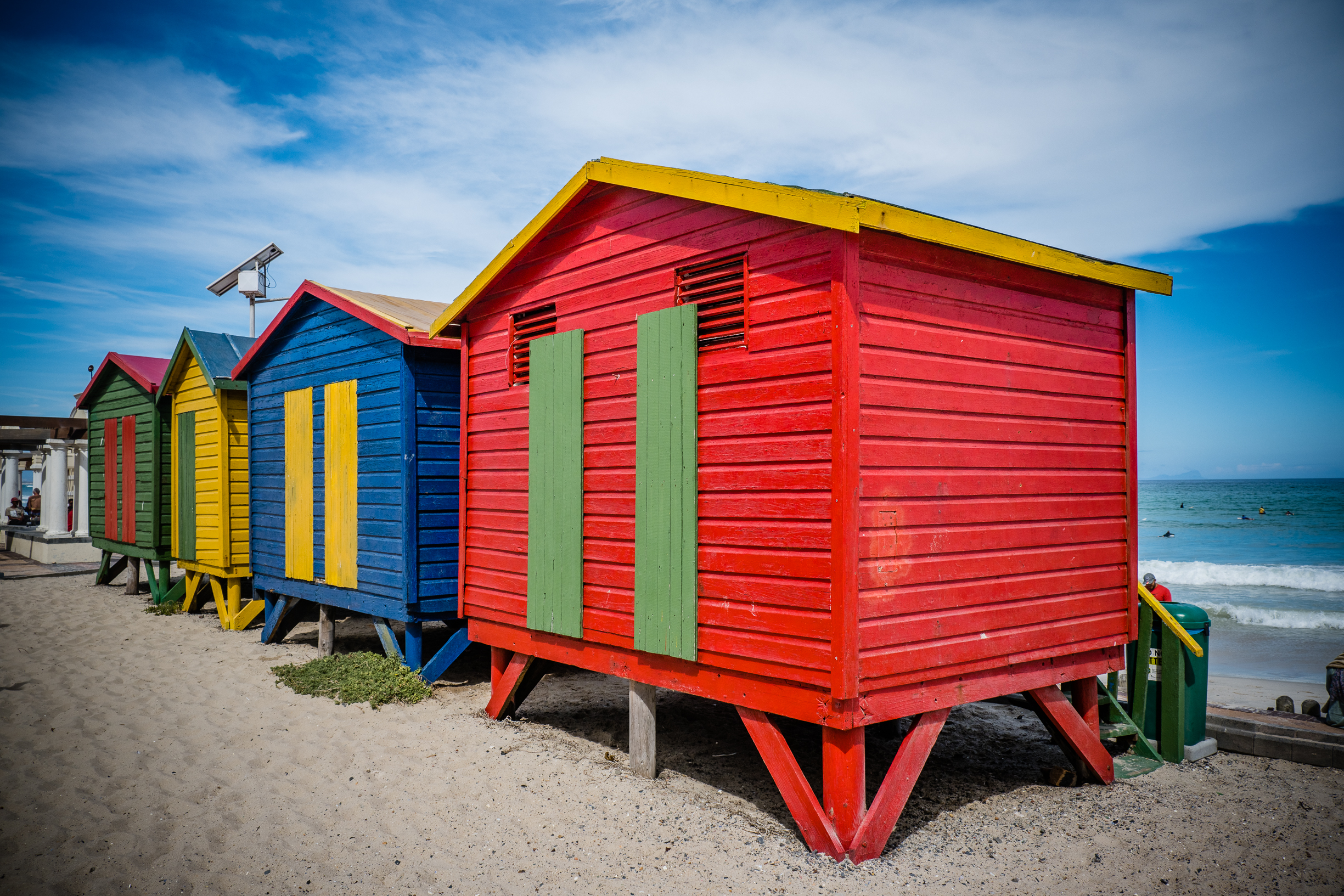 Muizenberg colorful huts